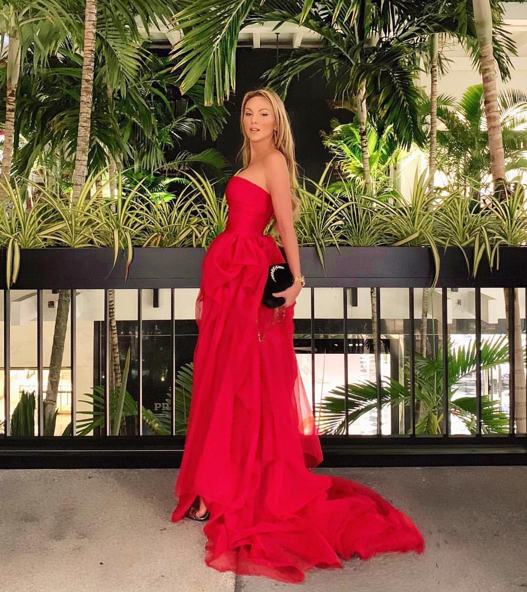 Strapless Maxi Dress In Red For Very Special Parties 2020