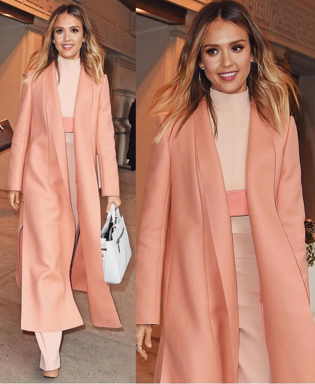 Blush Maxi Coat For Monochrome Outfit: Fall Essentials 2020