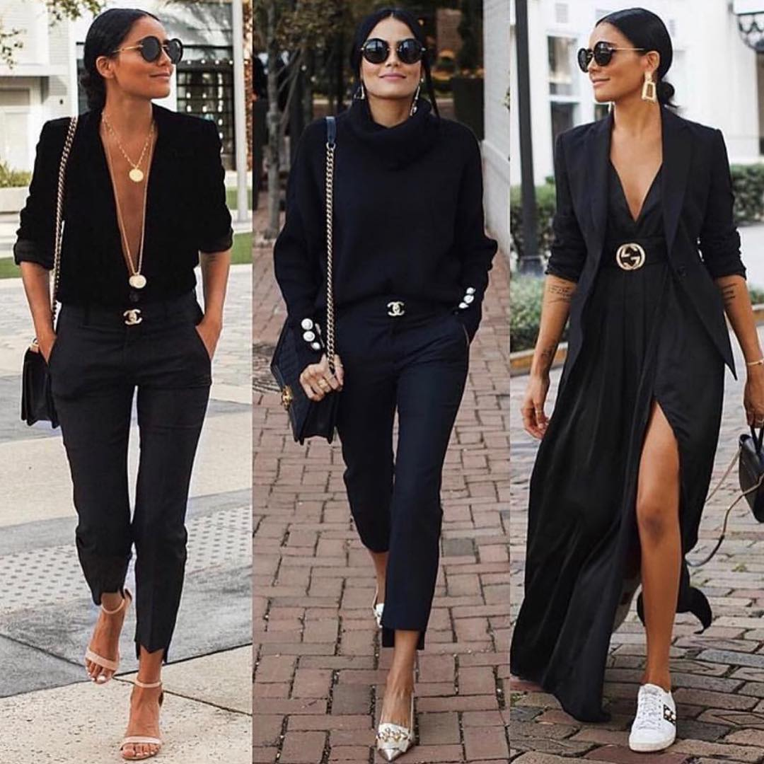 All Black Outfit Ideas For Early Fall 2019
