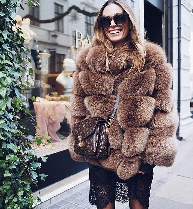 Can I Wear Fur Coat With Lace Slipdress This Fall 2021