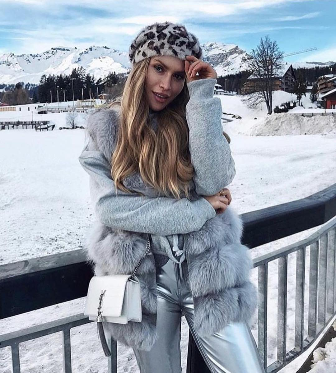 How To Wear Grey Fur Vest This Winter 2019