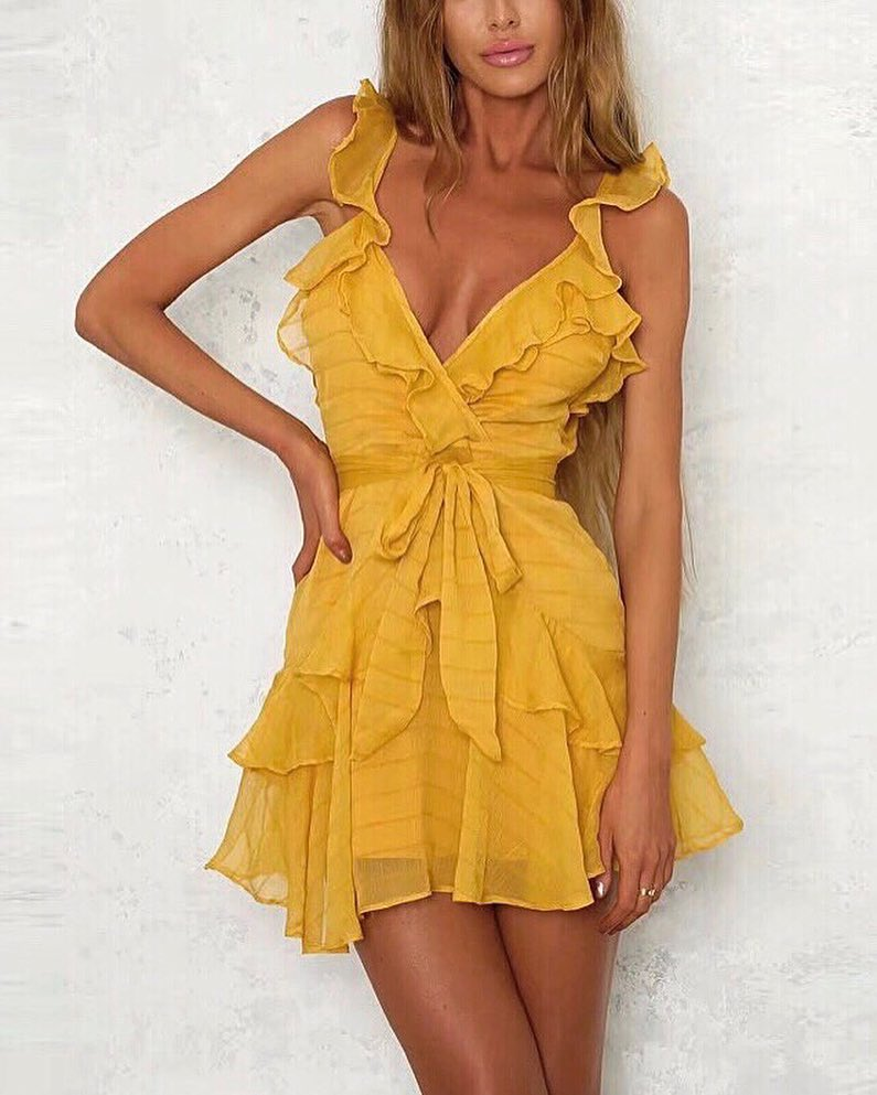 Yellow Ruffled Dress: Best Choice For Young Ladies For Summer 2020