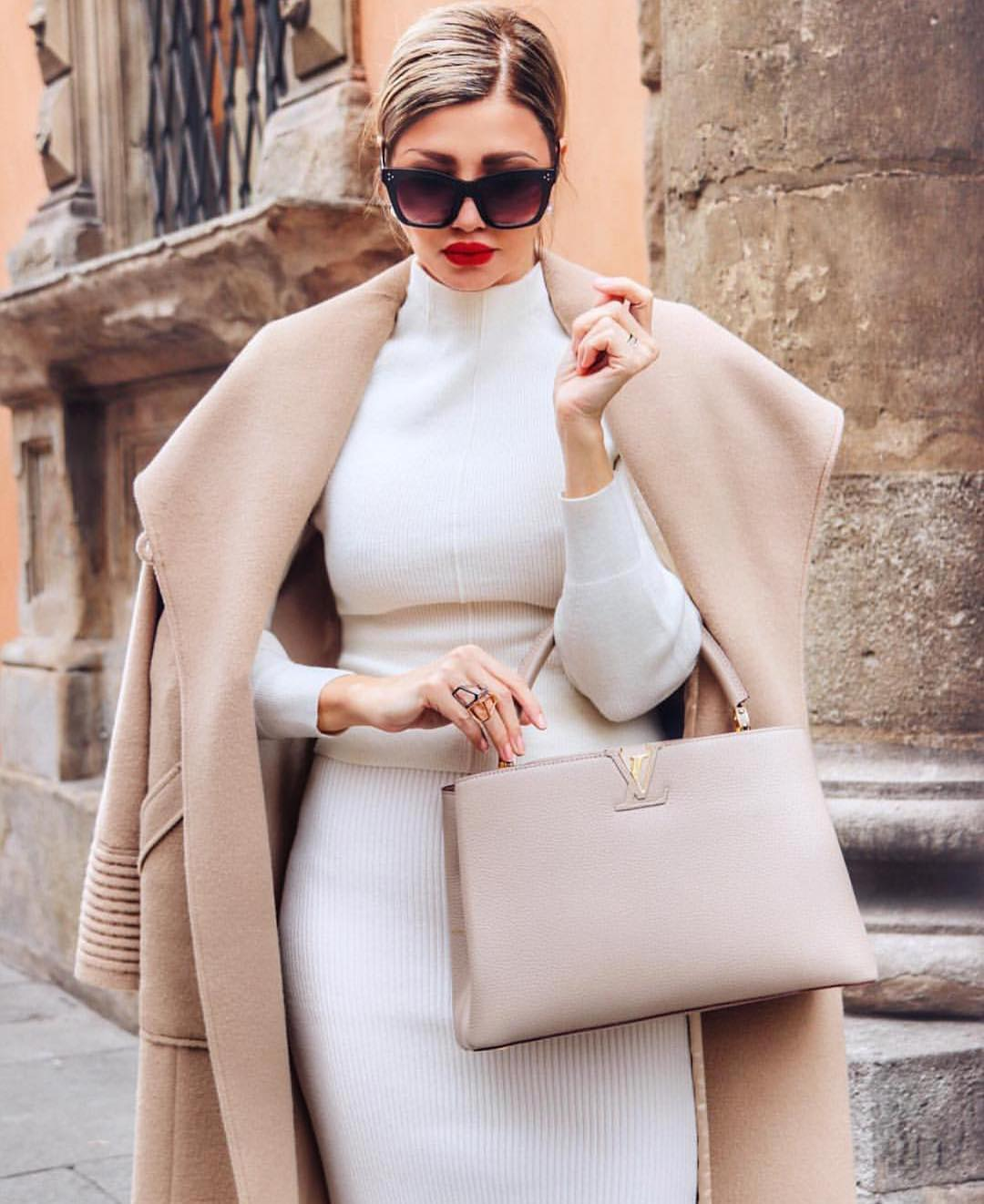 How To Wear Oversized Camel Coat With White Separates 2019
