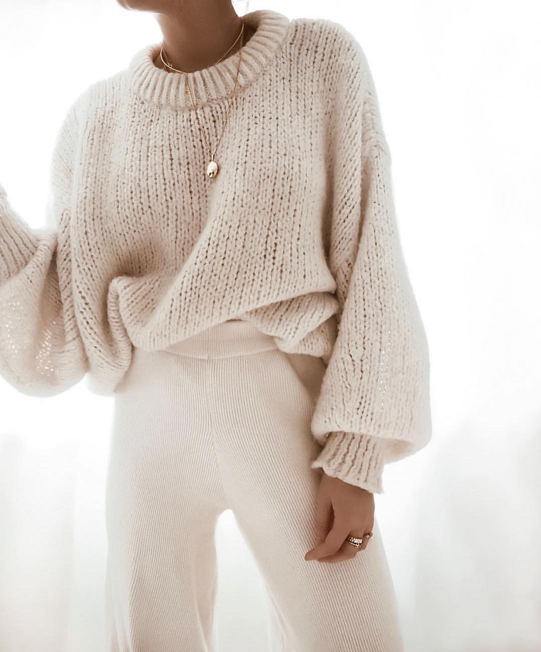 Oversized Sweater And Knitted Wide Pants: Knitwear Must-Haves 2020
