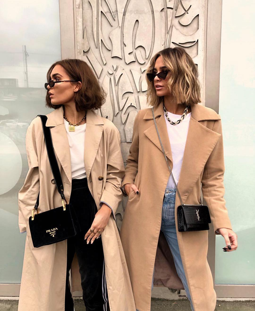 How To Wear Camel Coat And White T-shirt This Spring 2019